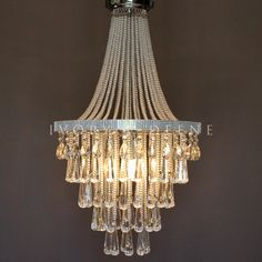 Chandelier - Empire Basket Pendant - Olivia #basket-chandelier #chrome #diamonte