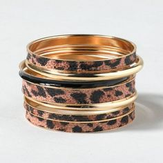 Luxe Leopard Bangles | Claire's