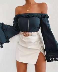 The mid-week selection of summer outfits to wear everyday. Enjoy the summer break with outfit ideas curated just for you. Teen Fashion Outfits, Girly Outfits, Cute Casual Outfits, Look Fashion, Stylish Outfits, Fashion Styles, Fashion Women, Edgy Summer Fashion, Gucci Outfits