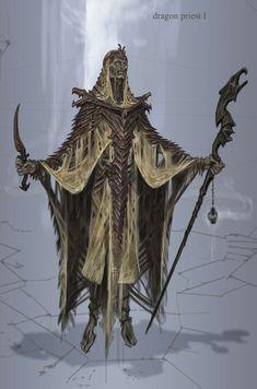 Dragon Priest concept art from The Elder Scrolls V: Skyrim by Adam Adamowicz The Elder Scrolls, Elder Scrolls Games, Elder Scrolls V Skyrim, Skyrim Concept Art, Game Concept Art, Character Concept, Character Art, Character Design, Character Ideas