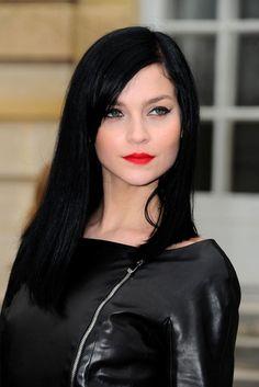 Resultado de imagen para pale skin black hair