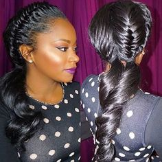 HAIRSPIRATION| In love with these #fishtail braids on @shavilles styled by #bayareastylist @dreamdiva1117 This is too cute #voiceofhair