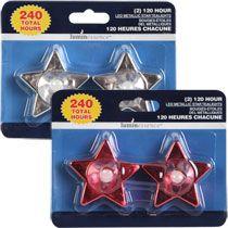 Bulk Luminessence Metallic Star LED Tealights, 2-ct. Packs at DollarTree.com