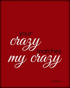 Check out this item in my Etsy shop https://www.etsy.com/uk/listing/281203294/your-crazy-matches-my-crazy-red