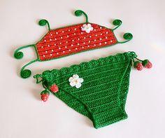Crochet pattern for toddler bikini on Ravelry