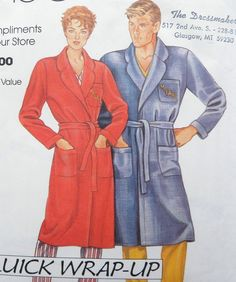 Bathrobe Pattern Mens Womens Robe McCalls 0011 All by WildPlumTree, $5.00