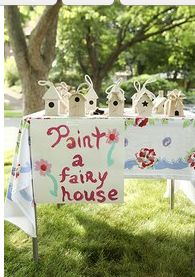 Possible bday idea *paint a fairy house*