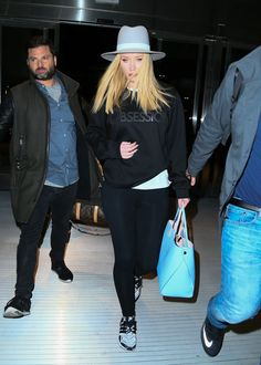 Iggy Azalea at JFK airport