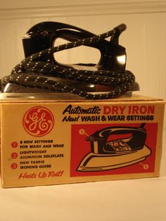 General Electric Dry Iron I REMEBER THAT IRON AND THE BOX! SHOPKINS