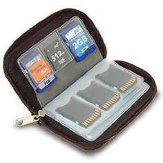 Link Depot LD-MCHOLDER Memory Card Carrying Case - Black   $8.39   pages with 20 card compartments   Water repellent   Anti-static inner material   <- perfect for those sd cards on the mission