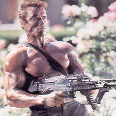 Arnold Schwarzenegger Commando 1985 Arnold Bodybuilding, Arnold Schwarzenegger Bodybuilding, Arnold Motivation, Fitness Motivation, Conan, Action Movies, Hollywood Stars, Weight Training, Hero