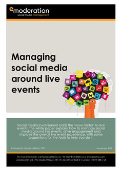 Managing social media around live events by eModeration Social Media Management.  #liveeventsocialmedia