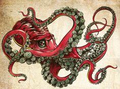 Octopussy  by Javier Medellin Puyou Aka Jilipollo