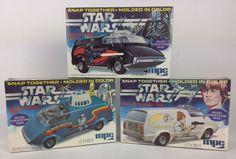Star Wars Vintage 1977 Darth Vader,Luke Skywalker & R2-D2 MPC Model Kits, Sealed