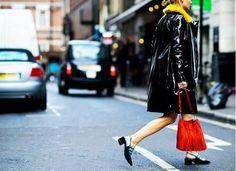 Trend Report: Velvet Shoes - Street Style