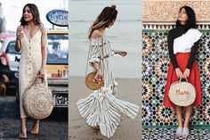 bolso redondo de paja verano Straw Bag, Fashion, Straws, Seasons, Spring Summer, Moda, La Mode, Fasion, Fashion Models