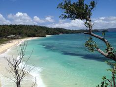 The quiet side of Boracay Island, Philippines. Ilig-Iligan Beach.