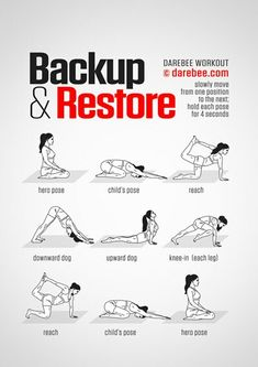 Backup & Restore Workout - Concentration - Full Body - Difficulty 2 Suitable for. - Backup & Restore Workout – Concentration – Full Body – Difficulty 2 Suitable for beginners - Yoga Fitness, Fitness Workouts, Health Fitness, Women's Fitness, Darebee, Sup Yoga, Quick Weight Loss Tips, Back Exercises, Yoga Exercises