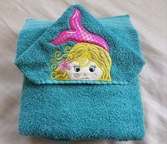 Your place to buy and sell all things handmade Kids Hooded Towels, Hooded Bath Towels, Mermaid Towel, Mermaid Coloring, Beach Towel, Color Combos, Hoods, Coin Purse, Trending Outfits