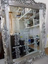 wedding table plans on mirrors #weddings #seating plans #inspiration