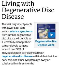 Ow :( http://www.spine-health.com/conditions/degenerative-disc-disease/pain-management-techniques-degenerative-disc-disease