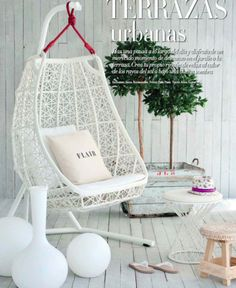 monochrome - all in white, green trees - eye catching and brings warmth, grouping similar objects - vases