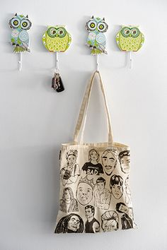 Tote bags, keys, and other ephemera can be hung on the owl hooks by the… Small Condo Living, Condo Interior Design, Tiny Spaces, Condos, House Tours, Ephemera, Tote Bags, Hooks, Keys