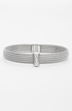 Women's ALOR Small Diamond Bar Bangle - Grey