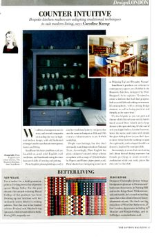 Drummonds' two new London showrooms in Notting Hill and the Kings Road were designed by Christopher Jenner as part of an ongoing collaboration that includes a new range of freestanding bathroom furniture drummonds-uk.com London Magazine May 2014