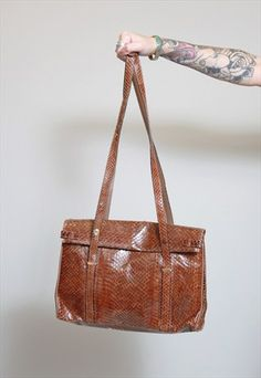 Vintage 1970's Brown Leather Handbag