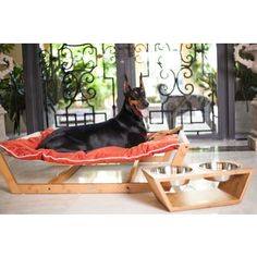 bamboo nautical solid colored wood suede hammock dog and cat bed   overstock  bamboo nautical solid colored wood suede hammock dog and cat bed      rh   pinterest