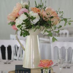 Large Cream Jug Wedding Centrepieces - The Wedding of My Dreams #theweddingofmydreams @Matty Chuah Wedding of my Dreams