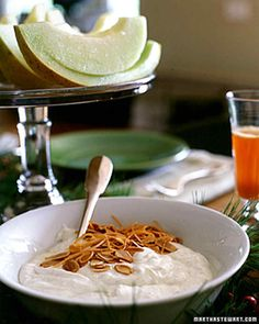 Giving the yogurt time to drain takes a little advance planning, but this dessert only takes a few minutes to make. Add any kind of dried fruit or nuts you like to give it a little crunch.