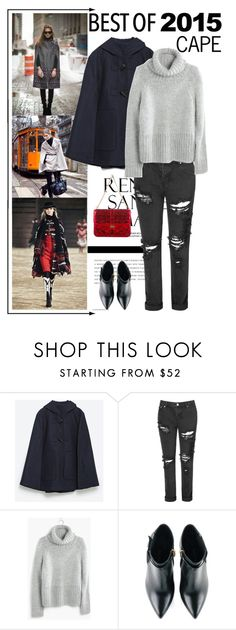 """""""2015 Highlight: Cape Trend"""" by angiegdurant on Polyvore featuring Zara, Glamorous, Madewell, Kim Kwang, Valentino, trend, cape, 2015 and bestof2015"""