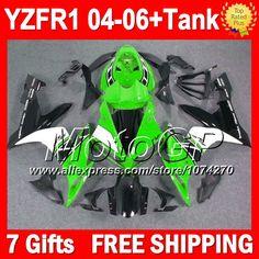 Купить товар7 подарки + для YAMAHA YZF R1 зеленый белый YZF R1 2004 2005 2006 P101186 YZF1000 04 06 YZFR1 зеленый черный YZF 1000 04 05 06 обтекателя в категории Щитки и художественная формовкана AliExpress.                              Удостоверение личности aliexpress: MotoGP