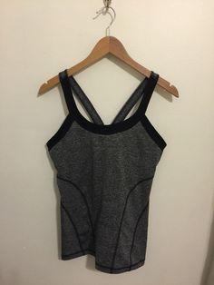 90 Degree By Reflex Black-Gray Workout exercise Yoga Racerback Tank Size Large #90Degree #ShirtsTops