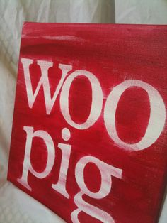 Items similar to SALE: Woo pig, 12x12 on Etsy