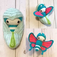Baby Knitting Patterns Cocoon I was a cocoon and now I am a butterfly! Crochet Diy, Crochet Amigurumi, Amigurumi Patterns, Crochet Crafts, Crochet Dolls, Crochet Animal Patterns, Baby Knitting Patterns, Yarn Projects, Crochet Projects