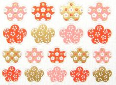 Plum Blossom Stickers Washi Paper  S100 by FromJapanWithLove, $6.50