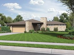Contemporary/Modern House Plan with 2159 Square Feet and 3 Bedrooms from Dream Home Source | House Plan Code DHSW077170