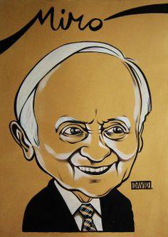 Caricatura a Joan Miró