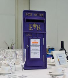 Purple Postbox - Wedding - Postbox - Spirits High- Derbyshire Wedding DJ - Derbyshire Wedding