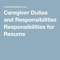 elderly caregiver job description for resume working girl