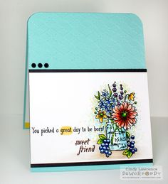 Go Wild stamp set by Power Poppy, card design by Cindy Lawrence.