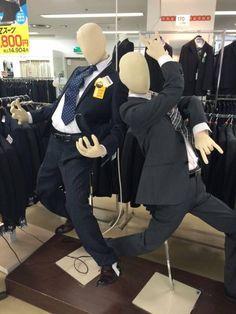 躍動感あふるる日本のサラリーマン