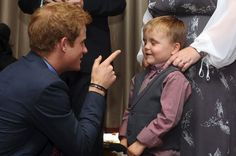 Oh he can take care of the kids.Prince Harry laughs with cheeky Alex Logan
