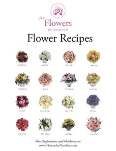 The Flowers by Number, Flower Recipes. To Inspire and Guide You! #flowerparties