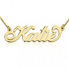 """Jazz up your style with this gorgeous 24K gold plated personalized name necklace that's inspired by the iconic style of """"Sex and City"""" star SJP's Carrie Bradshaw"""