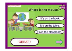 Pets and prepositions of place will be revised with the ppt game. Where are the pets questions will be answered by looking at the pictures.Prepositions in and. Powerpoint Game Templates, Prepositions, Reading Skills, Esl, Grammar, The Book, Physics, Improve Yourself, Teacher