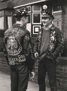 Bikers of the 59 Club, East London  ca 1965. S)